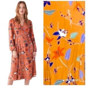 Urban Outfitters Floral Maxi Wrap Dress S-P